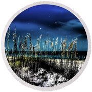 Night Moves Round Beach Towel