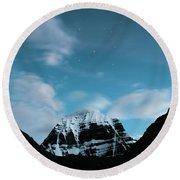 Night Sky Holy Kailas Himalayas Tibet Yantra.lv Round Beach Towel
