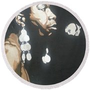Nina Simone Round Beach Towel
