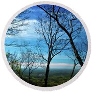 North Georgia View Round Beach Towel