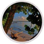Round Beach Towel featuring the photograph 1- North Palm Beach by Joseph Keane