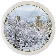Northeast Usa Photography Button Round Beach Towel
