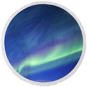 Northern Lights 7 Round Beach Towel