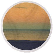 Not Quite Rothko - Breezy Twilight Round Beach Towel