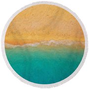 Not Quite Rothko - Surf And Sand Round Beach Towel