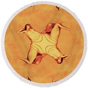 Nude In The Style Of Escher By Mb Round Beach Towel