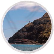 Oahu - Cliffs Of Hope Round Beach Towel
