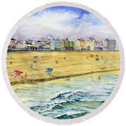 Ocean City Maryland Round Beach Towel by Melly Terpening