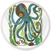 Octopus' Garden Round Beach Towel