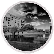 Okc Memorial Xiv Round Beach Towel