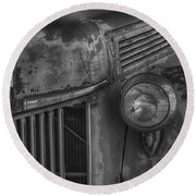 Old Ford Pickup Round Beach Towel by Garry Gay