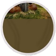 Old Jalopy Bodie State Park Round Beach Towel
