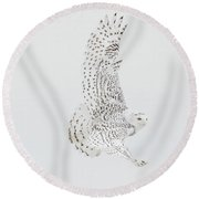 On The Move. Round Beach Towel