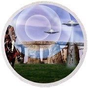 Once Upon A Time . . .  Round Beach Towel