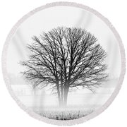 Round Beach Towel featuring the photograph One... by Nina Stavlund
