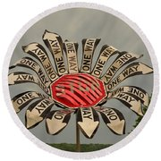 One Way Round Beach Towel