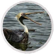 Round Beach Towel featuring the photograph Open Wide by Jean Noren