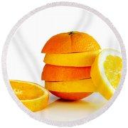 Oranje Lemon Round Beach Towel