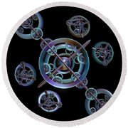 Orbital Bliss Round Beach Towel
