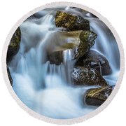Oregon Stream  Round Beach Towel by John McGraw