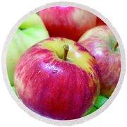 Organic Apples Round Beach Towel