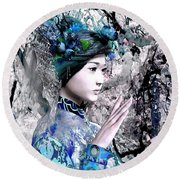 Our Lady Of China 7 Round Beach Towel