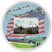 Our Memorial Day Salute Round Beach Towel by Daniel Hebard