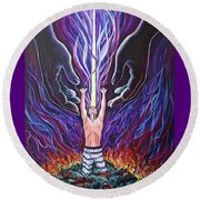 Out Of The Ashes Round Beach Towel