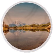 Oxbow Bend Round Beach Towel by Cathy Donohoue
