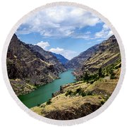 Oxbow Dam Tailwater Idaho Journey Landscape Photography By Kaylyn Franks  Round Beach Towel
