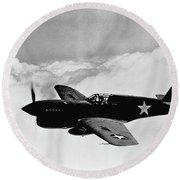 P-40 Warhawk Round Beach Towel by War Is Hell Store