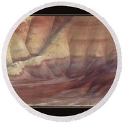 Round Beach Towel featuring the photograph Painted Hills Triptych by Leland D Howard