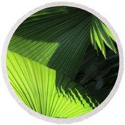 Palm Patterns Round Beach Towel