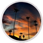 Palm Springs Round Beach Towel by Chris Tarpening