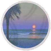 Palmetto Moon Round Beach Towel