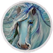 Palomino Round Beach Towel by Jenny Lee