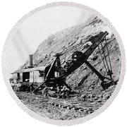 Panama Canal - Construction - C 1910 Round Beach Towel