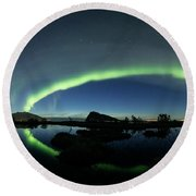 Panoramic Aurora Round Beach Towel