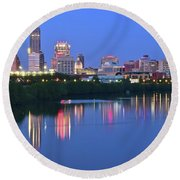 Panoramic Indianapolis Round Beach Towel by Frozen in Time Fine Art Photography