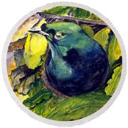 Paradise Bird Round Beach Towel