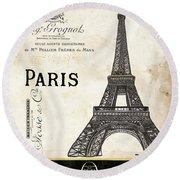 Paris Ooh La La 1 Round Beach Towel