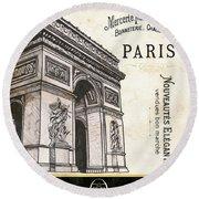 Paris Ooh La La 2 Round Beach Towel