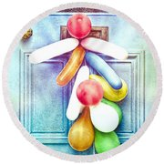 Party Balloons Round Beach Towel