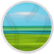 Passing Cloud Round Beach Towel