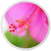 Pastel Droplets Round Beach Towel
