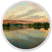 Pastel Reflections Round Beach Towel