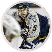 Paul Kariya Round Beach Towel