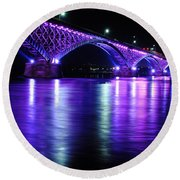 Peace Bridge Supporting Breast Cancer Awareness Round Beach Towel
