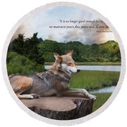 Round Beach Towel featuring the photograph Peace by Robin-Lee Vieira
