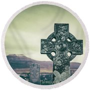 Peace Within Round Beach Towel